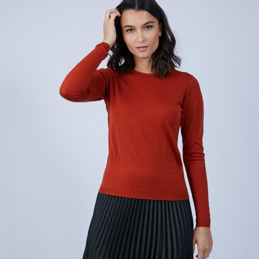Pull col rond en laine mérinos - Berenice