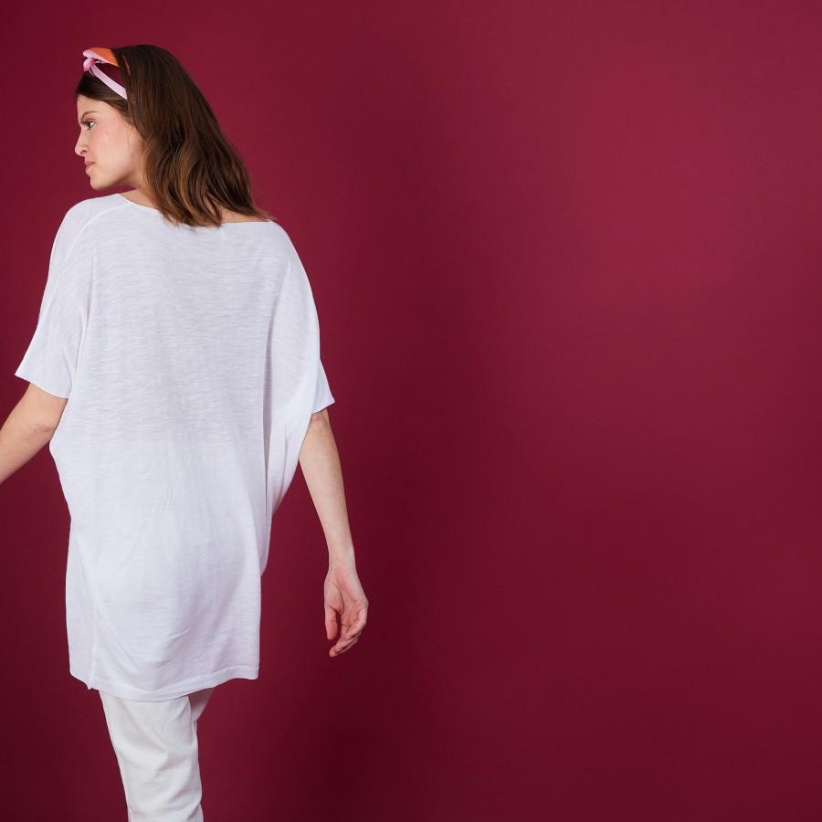 T-shirt long en lin - BIL