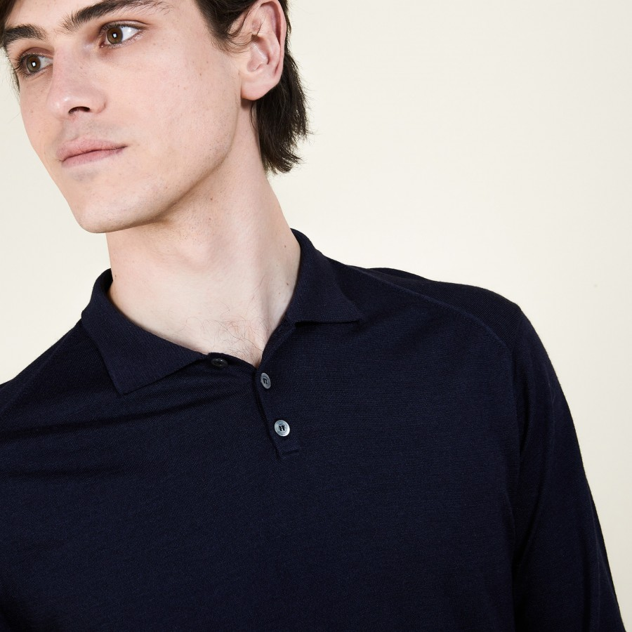 Wool and silk polo neck sweater - Bartev