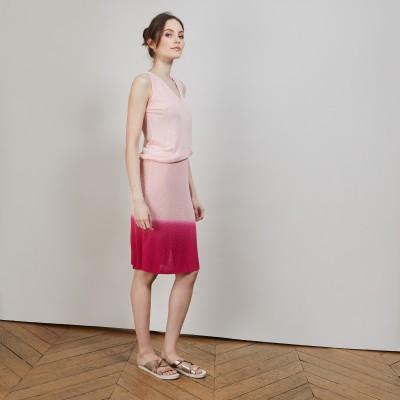 グラデーションカラー・ニットスカート - Corail
