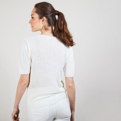 半袖・ラウンドネックセーター - Bapteme