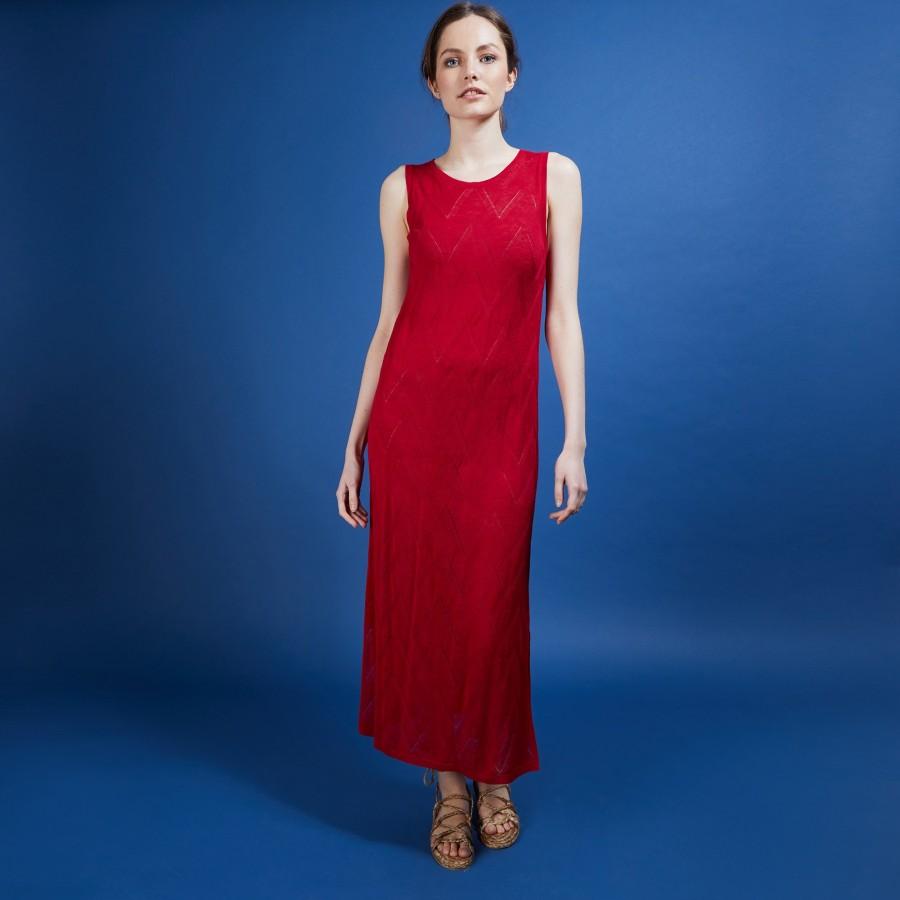 Longue robe en lin flammé - Come