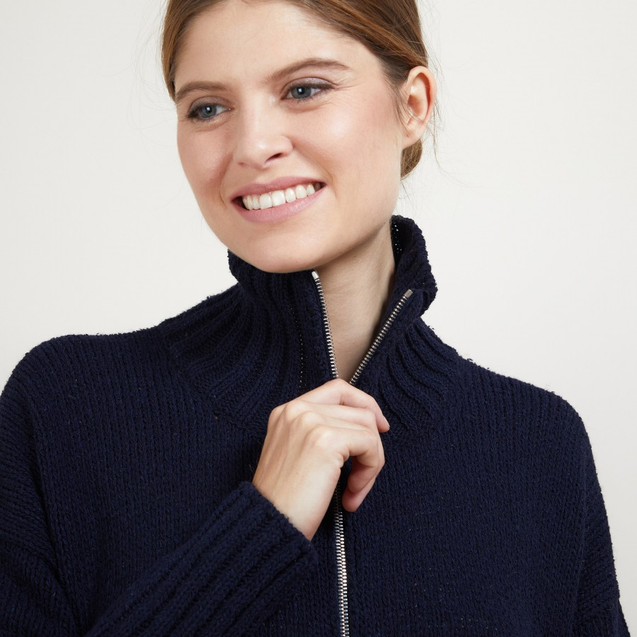 Zipped jacket with high collar - Brazil