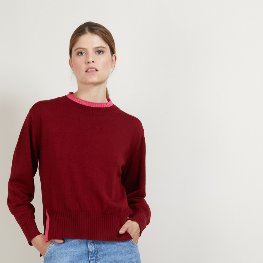 Two-tone wool sweater - Gimmie