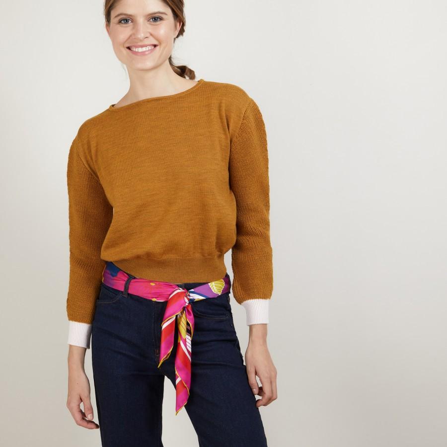 Short wool sweater - Fanfan