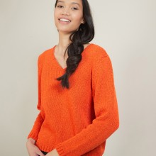 V-neck sweater in wool and silk - Blovis