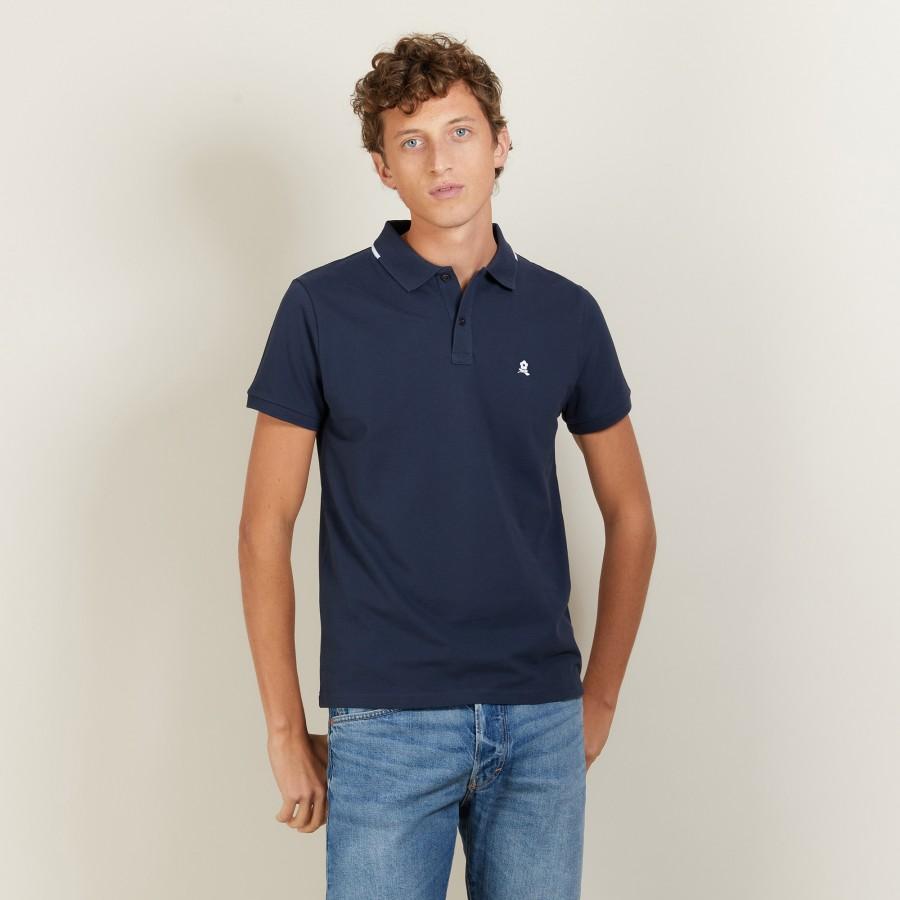 Short-sleeved cotton pique polo shirt - Babel