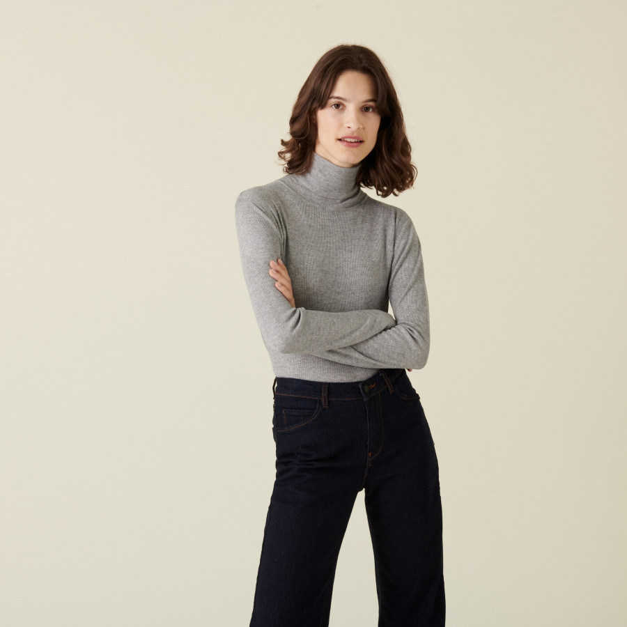 Fine knit bamboo cashmere t-shirt - Aerio