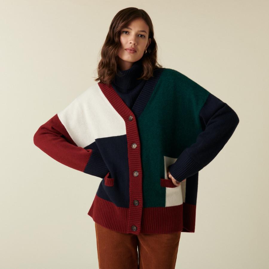 Long buttoned cashmere cardigan - Delia