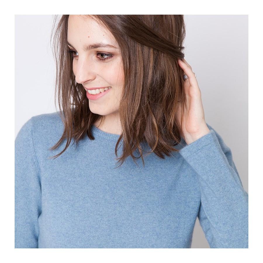 Crew neck pullover made of cashmere - Ursula