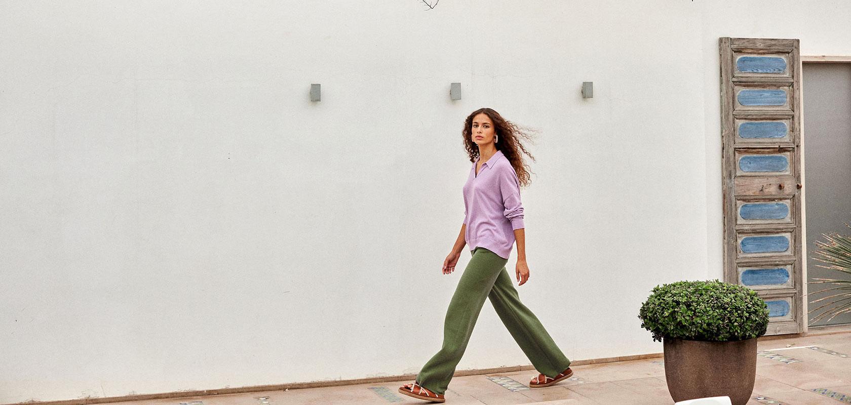 clothing woman pants Maison Montagut